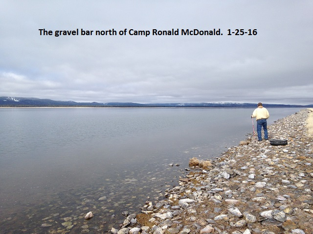 The gravel bar north of camp Ronald McDonald 1-25-16