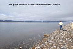 The gravel bar north of camp Ronald McDonald 1-25-16