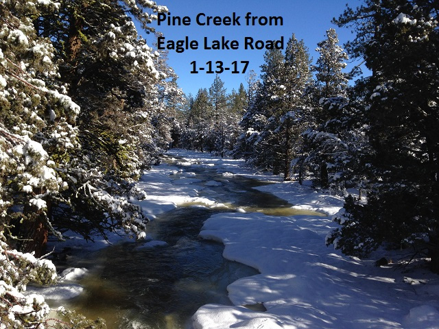 Pine Creek from Eagle Lake Road 1-13-17