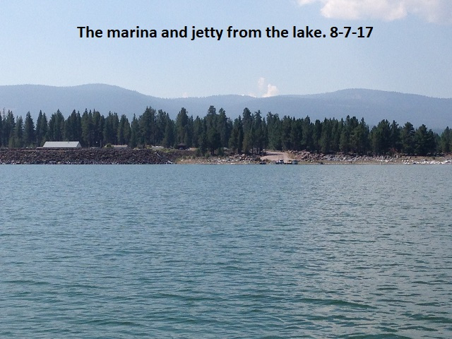 The marina and jetty from the lake 8-7-17