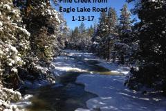 Pine Creek from Eagle Lake Road 1-13-17