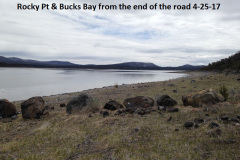 Rocky Pt and Bucks Bay from the end of the road 4-25-17