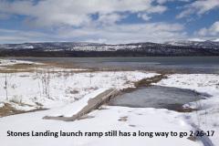 Stones Landing launch ramp 2-26-17