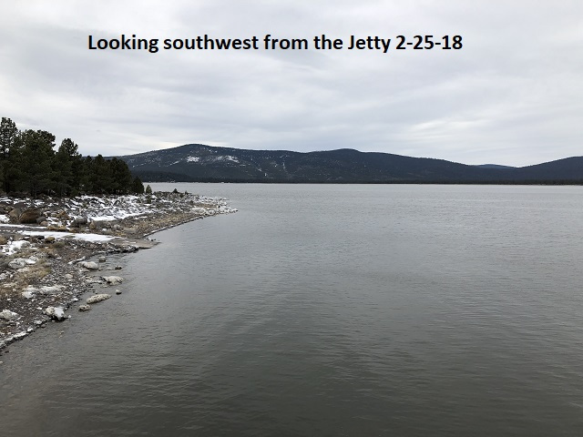 2-25-18 Looking southwest from the jetty