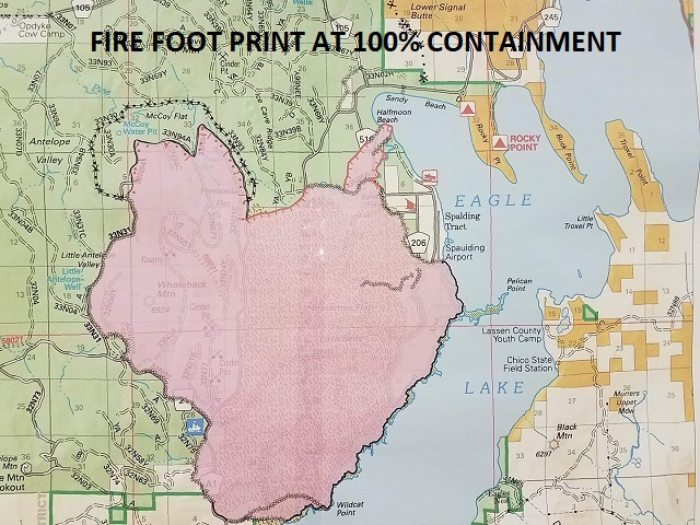 8-6-18 Whaleback Fire Footprint at 100% containment