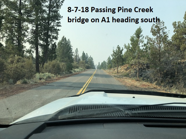 8-7-18 Passing Pine Creek bridge heading south
