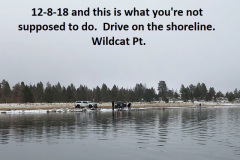12-8-18 illegal to make your own road along the shoreline