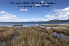 3-23-18 The mouth of Merrill Creek