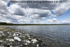 5-13-18 from Christie's rocky point looking northwest