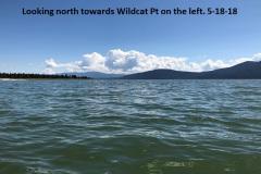 5-18-18 Looking north towards Wildcat Pt