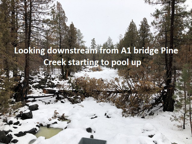 2-14-19 from A1 bridge looking downstream Pine Creek
