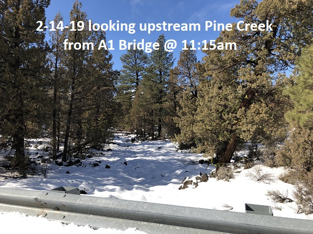 2-14-19 from A1 bridge looking upstream Pine Creek