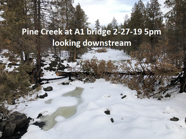 2-27-19 Pine Creek at A1 Bridge looking downstream