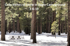 3-6-19 Only inches of snow in Eagle Campground