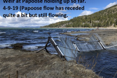 4-9-19-Papoose-Cr-weir-holding-up-so-far