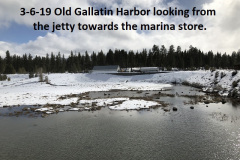 3-6-19 Old Gallatin Harbor looking towards the store from the jetty
